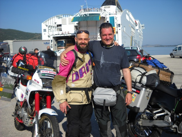 Matteo and I in Greece.