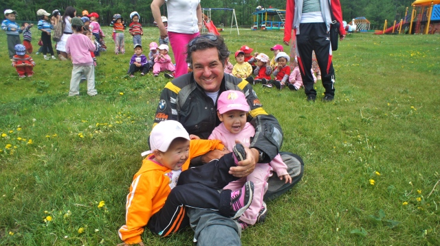Most of the children wanted to stay on our laps