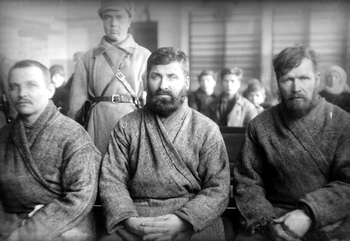 Prisoners at a trial