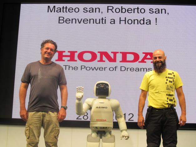 Matteo, Azimo, and myself in Tokyo. HONDA HEADQUARTER.
