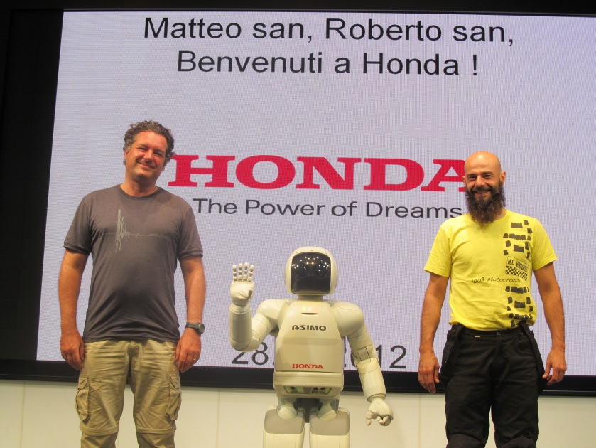 Matteo, Azimo, and myself in Tokyo. HONDA HEADQUARTER.