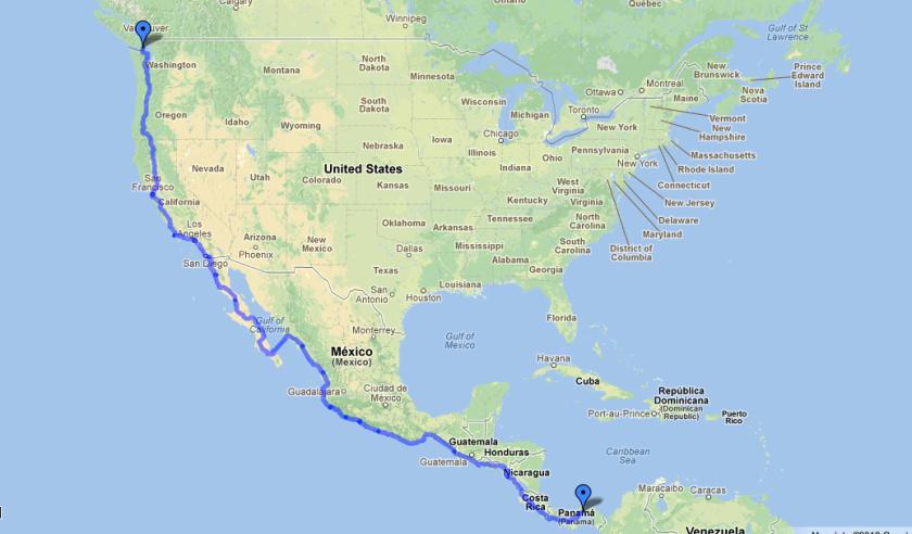 Victoria to Panama