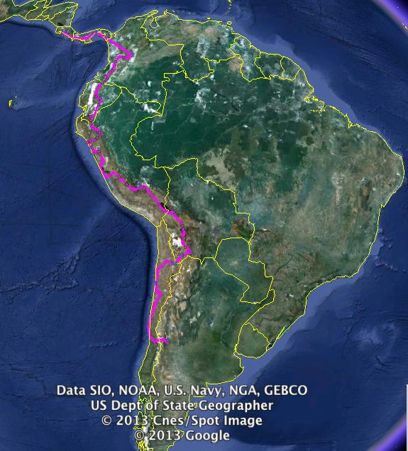 Panama to Chile