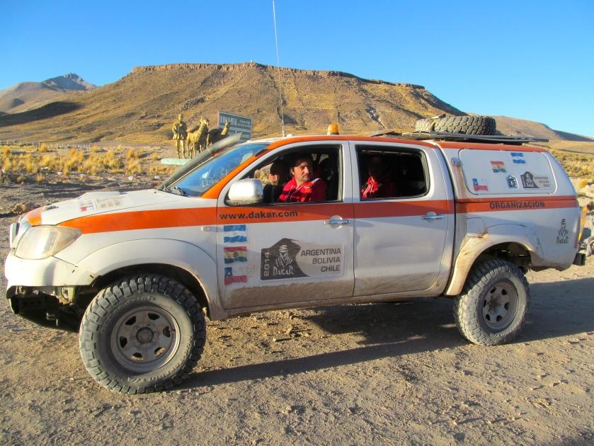 Paris-Dakar official organization truck