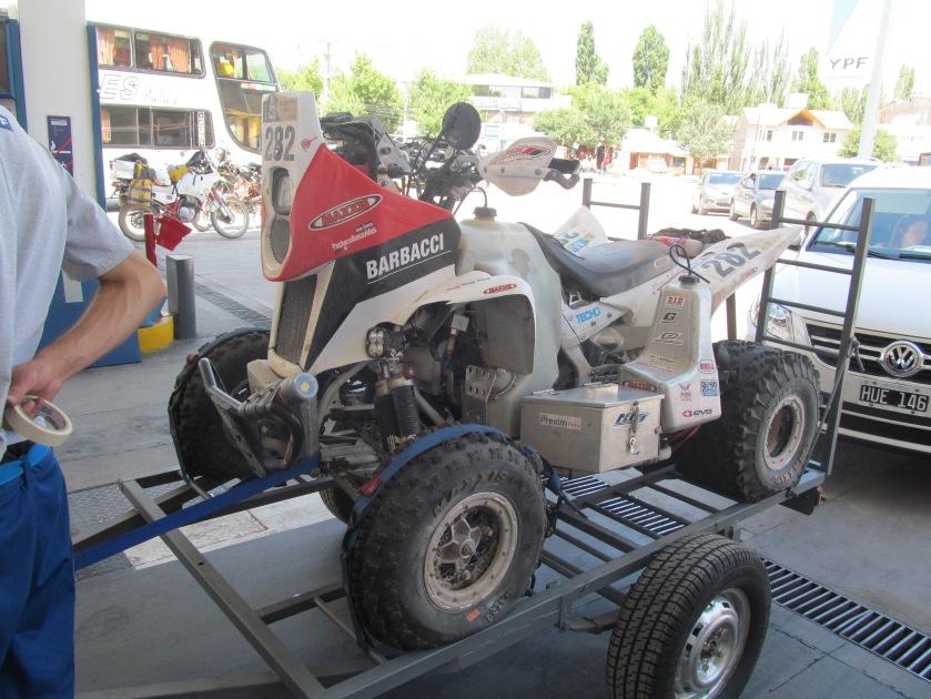 Eliminated Participant of the Dakar Race