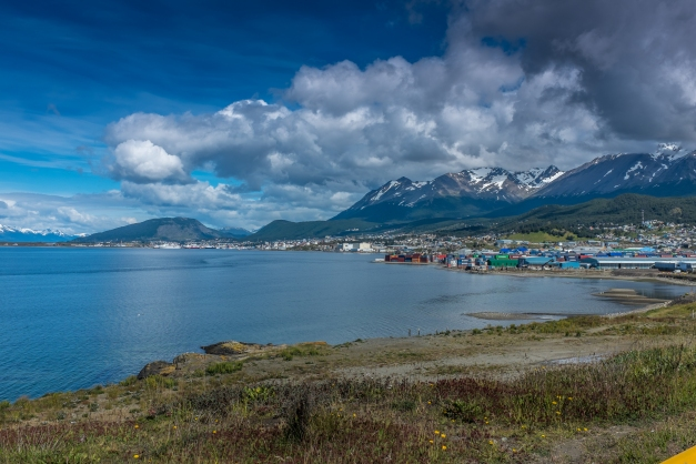 Ushuaia from the distance