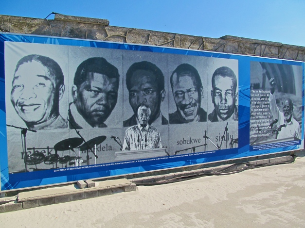 Political leaders that were in prison in Robben Island. Mandela is the second from left